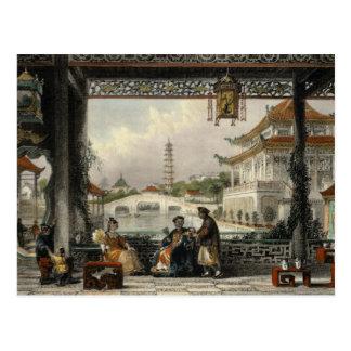 Pavilion and Gardens of a Mandarin near Peking, fr Postcard