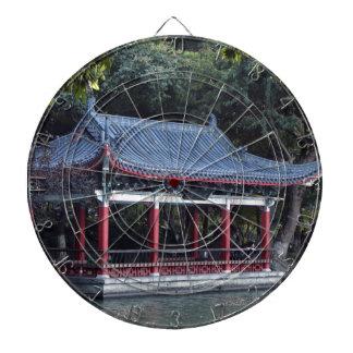 Pavilion, Lake Ronghu, Guilin, China Dartboard