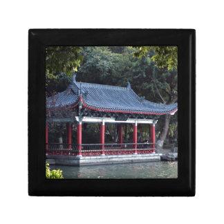 Pavilion, Lake Ronghu, Guilin, China Gift Box