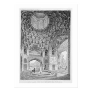 Pavilion of the Eight Paradises, in Isfahan, from Postcard