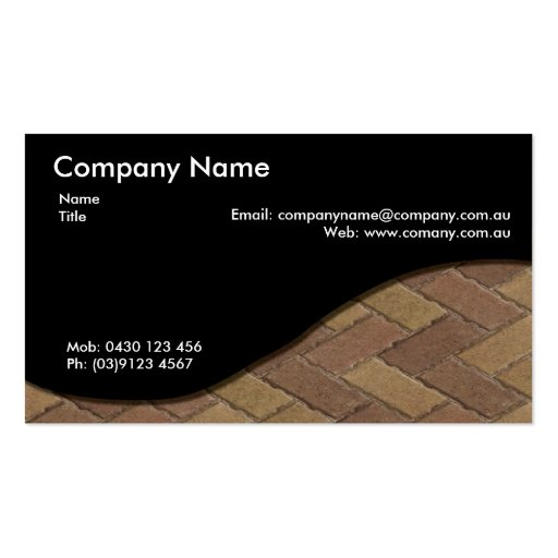Paving Business Cards
