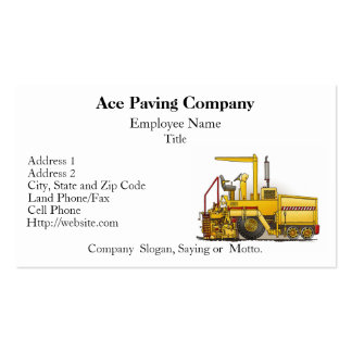 Paving Machine Construction Business Cards