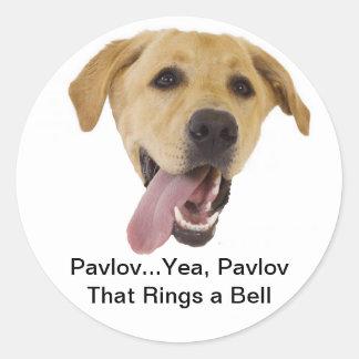 Pavlov Rings a Bell Round Sticker