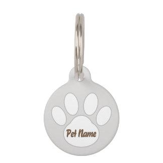 Paw Design Dog Tag  (Silver) *Customizable*