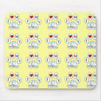 PAW - I heart my Pit Bull - Love Dogs Mouse Pads