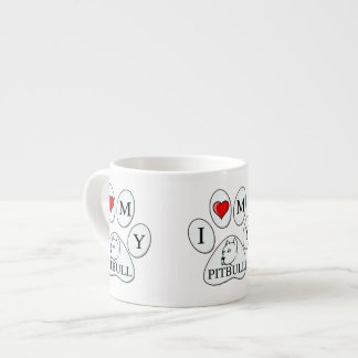PAW - I heart my Pit Bull - Love Dogs Espresso Cup