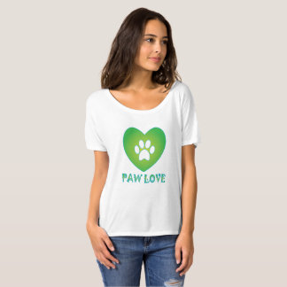 Paw Love Green T-Shirt