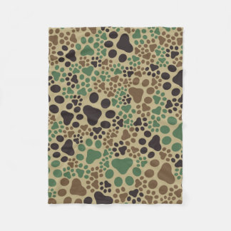 Paw pad camouflage fleece blanket