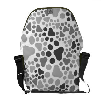 Paw pad camouflage messenger bags