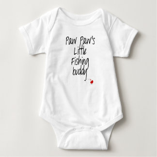 Paw Paw's Little Fishing Buddy Baby Bodysuit