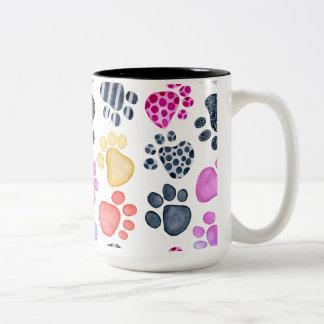 Paw Print 15oz ringer mug