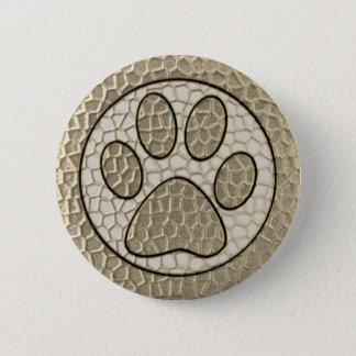 Paw Print 6 Cm Round Badge