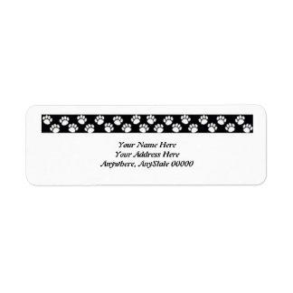 Paw Print Address Labels