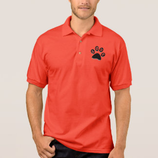paw print, animal & pet lovers, shelter volunteer polo t-shirt
