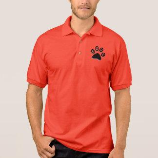 paw print, animal & pet lovers, shelter volunteer polo t-shirt