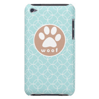 Paw Print; Baby Blue Circles Case-Mate iPod Touch Case