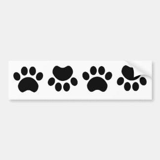 Paw Print Bumper Sticker