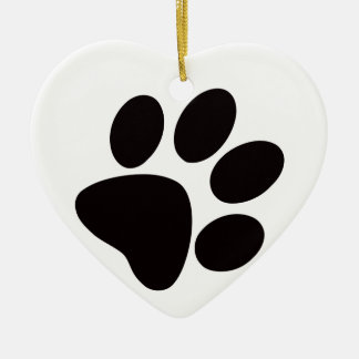 Paw Print Christmas Ornament/Paws and Claws Ceramic Ornament