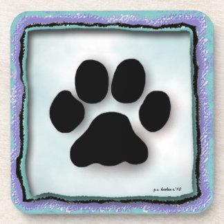 Paw Print Coasters by Glenda S. Harlan