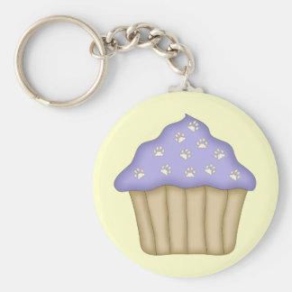 Paw Print Cupcake Key Chain