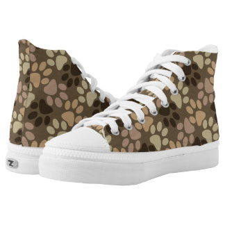 Paw Print Design Printed Shoes