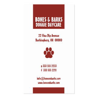 Paw Print Dog Care Business Card