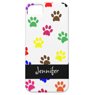 Paw print dog custom girls name iphone 5 barely case for the iPhone 5