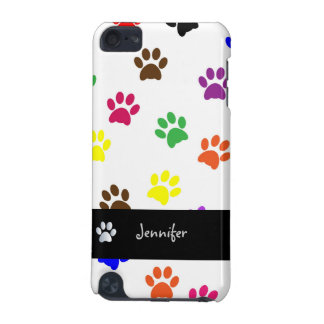 Paw print dog custom girls name ipod touch 4G case iPod Touch 5G Cases