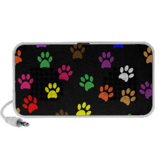 Paw print dog pet colorful fun doodle speakers