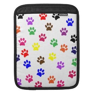 Paw print dog pet colorful fun ipad sleeve