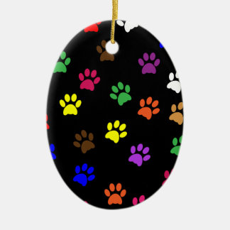 Paw Print dog pet colorful fun love dogs ornament
