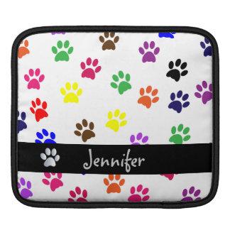 Paw print dog pet custom girls name ipad sleeve