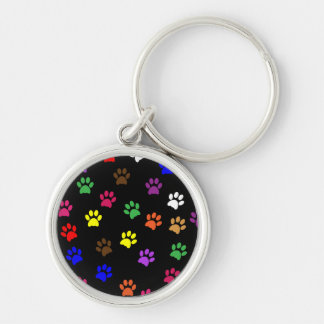 Paw print dog pet fun colorful keychain