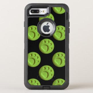 Paw Print Dot - Green OtterBox Defender iPhone 8 Plus/7 Plus Case
