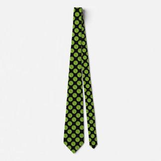 Paw Print Dot - Green Tie