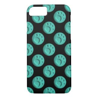 Paw Print Dot - Teal iPhone 8/7 Case