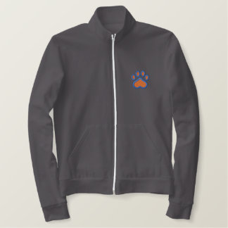 Paw Print Embroidered Jacket