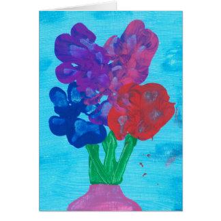 Paw Print Flowers Card