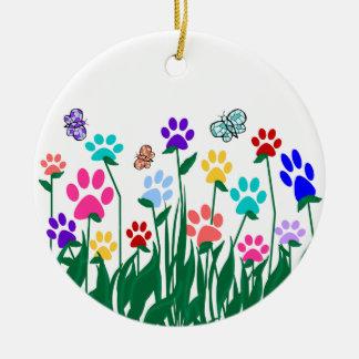 Paw Print Garden Ornament