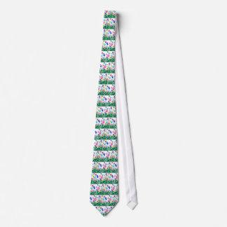 Paw Print Garden tie