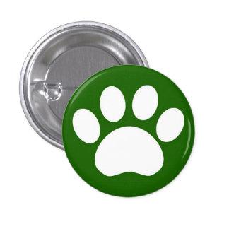 Paw Print: Green Button