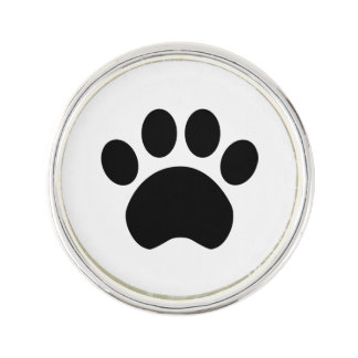 Paw Print Heart Lapel Pin