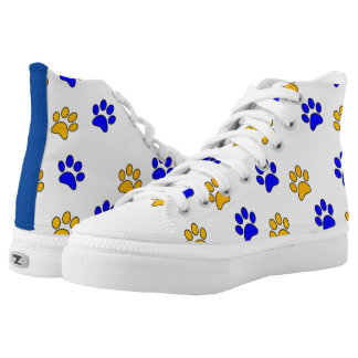 Paw print high tops printed shoes