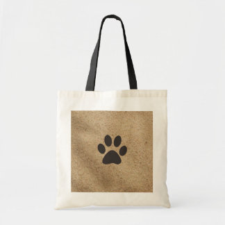 Paw Print in the sand Tote Bag
