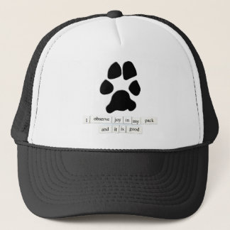 Paw Print Joy Trucker Hat