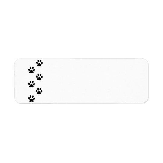 Paw Print Label Return Address Label