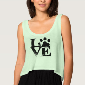 Paw Print Love Tank Top