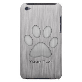 Paw Print; Metal-look iPod Touch Covers