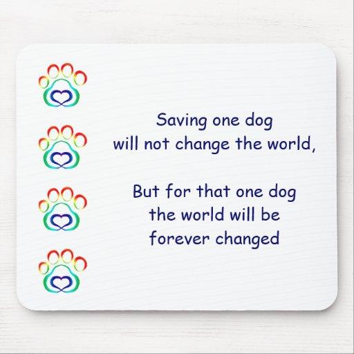 Paw Print Mousepad, Save One Dog
