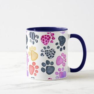 Paw Print mug with 2nd color